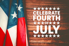 Composite image of celebrate fourth of july Royalty Free Stock Image