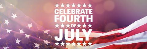 Composite image of celebrate fourth of july. Celebrate fourth of july against red background with vignette vector illustration