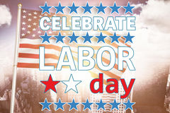 Composite image of celebrate labor day text and stars Stock Photos