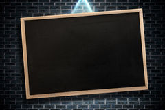 Composite image of chalkboard with wooden frame Royalty Free Stock Photo