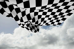 Composite image of checkered flag Stock Photos