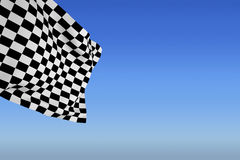 Composite image of checkered flag Stock Images