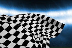 Composite image of checkered flag Stock Image
