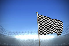 Composite image of checkered flag Stock Photography