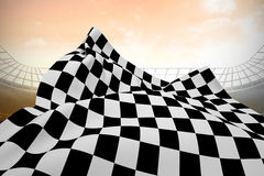 Composite image of checkered flag Royalty Free Stock Photo