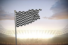 Composite image of checkered flag Royalty Free Stock Images