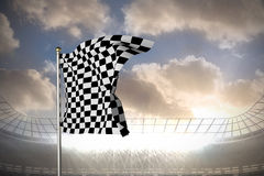 Composite image of checkered flag Royalty Free Stock Image
