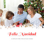 Composite image of cheerful family celebrating christmas Royalty Free Stock Photos
