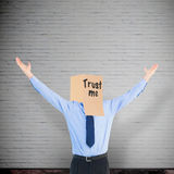 Composite image of cheering anonymous businessman Royalty Free Stock Photo