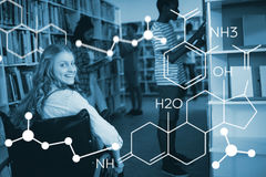 Composite image of composite image of chemical structure Royalty Free Stock Image