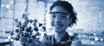 Composite image of composite image of chemical structure Stock Photos