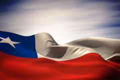 Composite image of chile flag waving Royalty Free Stock Photos