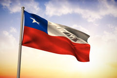 Composite image of chile national flag Royalty Free Stock Photography