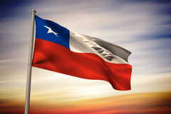 Composite image of chile national flag Stock Images