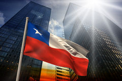 Composite image of chile national flag Royalty Free Stock Photo