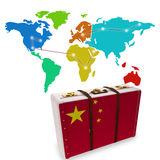 Composite image of chinese flag suitcase Royalty Free Stock Photography