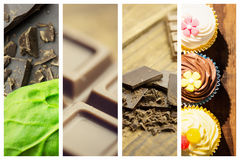 Composite image of chocolate and basil Stock Images