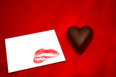 Composite image of chocolate heart Royalty Free Stock Photo