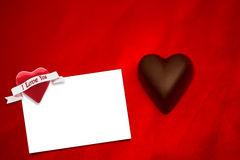 Composite image of chocolate heart Royalty Free Stock Image