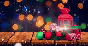 Composite image of christmas accessories Royalty Free Stock Images