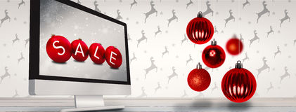 Composite image of christmas baubles Royalty Free Stock Images