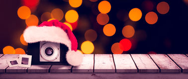Composite image of christmas camera Royalty Free Stock Images