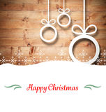 Composite image of christmas card Royalty Free Stock Image