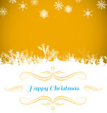 Composite image of christmas card Stock Images