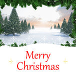 Composite image of christmas card Stock Photo