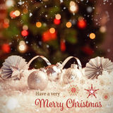 Composite image of christmas card Royalty Free Stock Photo