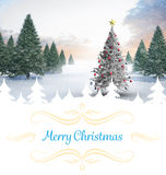 Composite image of christmas card Stock Photography