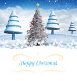 Composite image of christmas card Royalty Free Stock Images