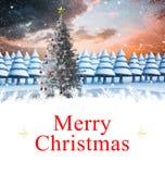 Composite image of christmas card Stock Photos