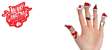 Composite image of christmas caroler fingers Royalty Free Stock Images