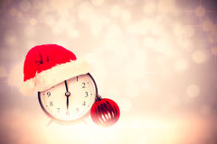 Composite image of christmas clock Royalty Free Stock Photos
