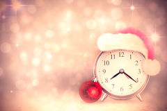 Composite image of christmas clock Royalty Free Stock Photo