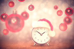 Composite image of christmas clock Royalty Free Stock Photography