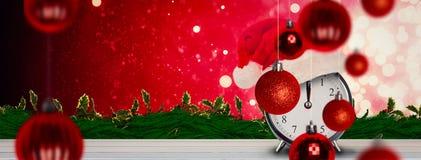 Composite image of christmas clock Stock Photos