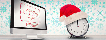 Composite image of christmas clock Royalty Free Stock Images