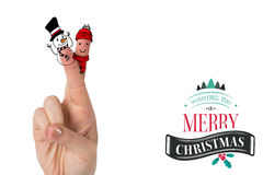 Composite image of christmas fingers Stock Images