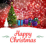 Composite image of Christmas greeting card Stock Photography