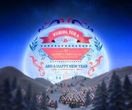Composite image of christmas message Royalty Free Stock Image