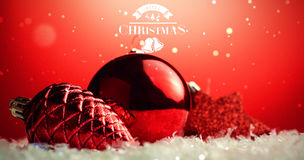 Composite image of christmas message Stock Photography
