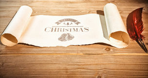 Composite image of christmas message Royalty Free Stock Images