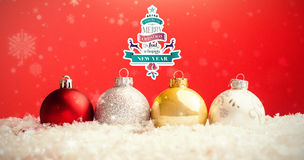 Composite image of christmas message Stock Images