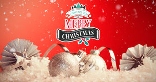 Composite image of christmas message Stock Image