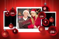 Composite image of christmas photographs Stock Photo