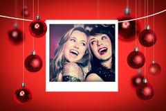 Composite image of christmas photographs Stock Photos