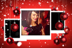 Composite image of christmas photographs Stock Image