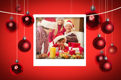 Composite image of christmas photographs Royalty Free Stock Photography